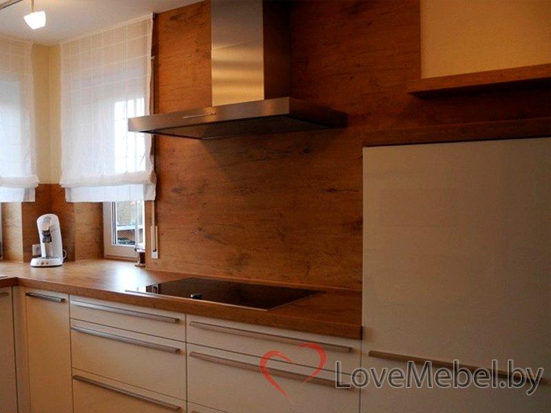 Белая кухня с длинными ручками Тиас (3)