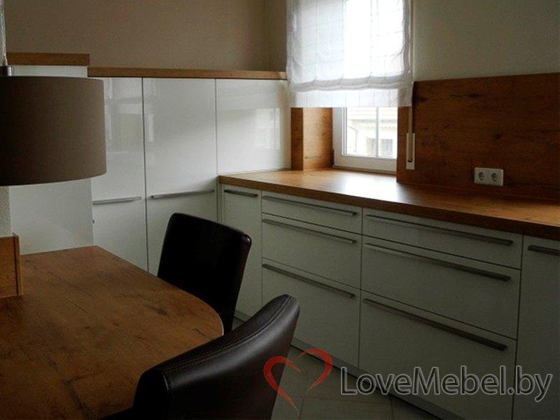 Белая кухня с длинными ручками Тиас (6)