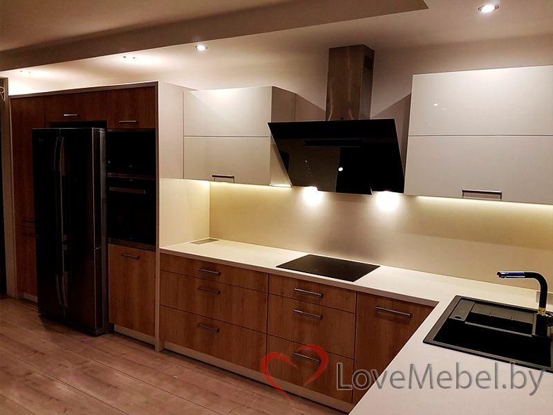 Угловая кухня под окно Орденес (2)