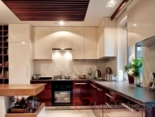 Кухня до потолка из акрила Бривьеска (1)