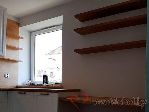 Белая кухня из фрезерованного МДФ Бениса (4)