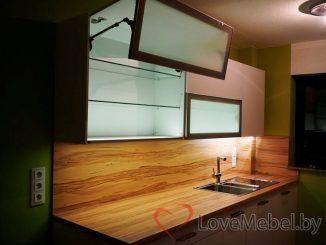 Кухня на две стены из крашенного МДФ Монторио (1)