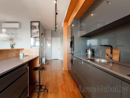 Кухня под потолок из крашенного МДФ Хайена (1)