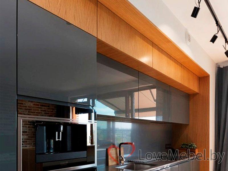 Кухня под потолок из крашенного МДФ Хайена (3)