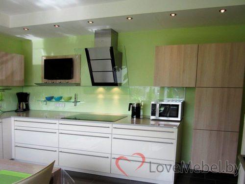 Угловая кухня из пластика Кармонита (2)
