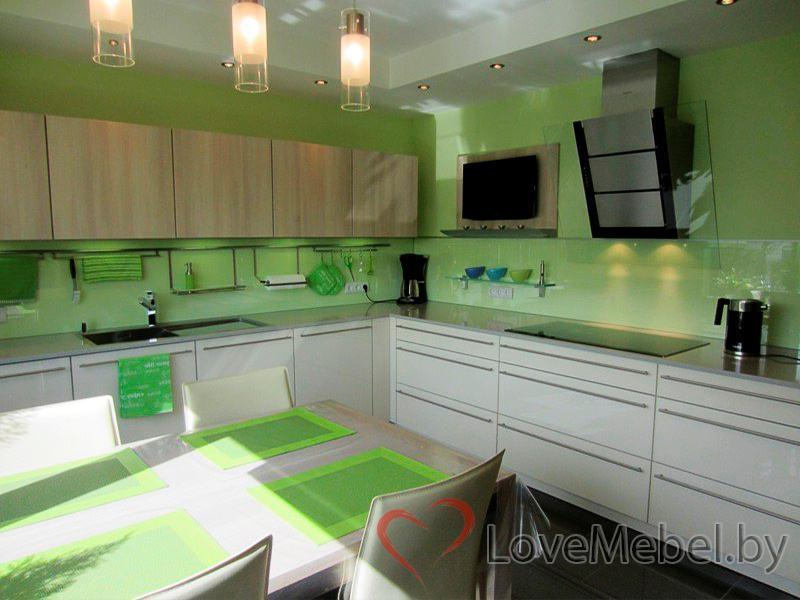 Угловая кухня из пластика Кармонита (3)