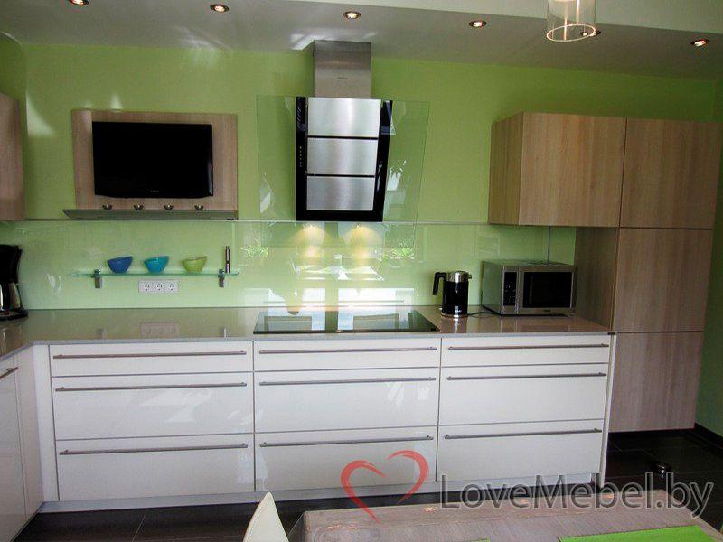 Угловая кухня из пластика Кармонита (4)