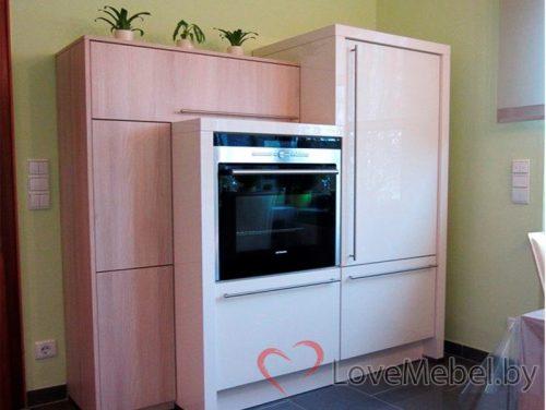 Угловая кухня из пластика Кармонита (5)