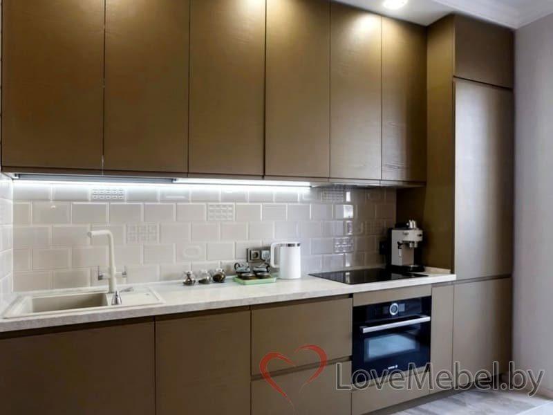 Кухня с распашными фасадами до потолка Арта (1)