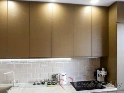 Кухня с распашными фасадами до потолка Арта (4)
