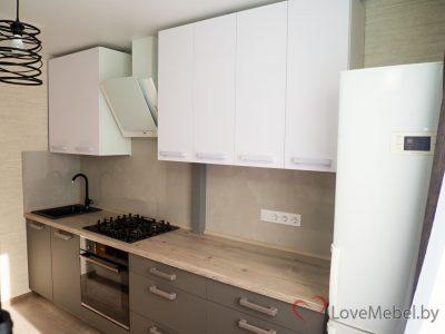 Кухня из феникс 0030 Bianco alaska и 0718 Grigio Londra